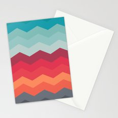 Color strips pattern Stationery Cards