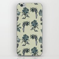 Botanical Florals | Vintage Blue iPhone & iPod Skin