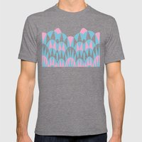 Modern Day Arches Pink Mens Fitted Tee Tri-Grey SMALL