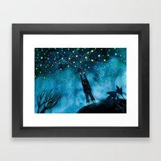 same stars we shared all frozen in the sky Framed Art Print