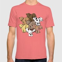 Dog Tessellation Mens Fitted Tee Pomegranate SMALL
