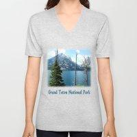 Grand Teton national Park landscape photography Unisex V-Neck