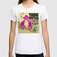 Yoshi Battles The Pink R… Womens Fitted Tee Ash Grey SMALL