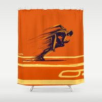 Athlethic's Run Shower Curtain