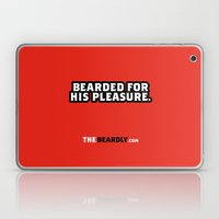 BEARDED FOR HIS PLEASURE. Laptop & iPad Skin