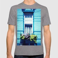 Blue Window Mens Fitted Tee Tri-Grey SMALL