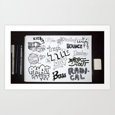 Fresh Type Day Art Print
