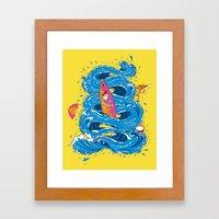 Wipeout Framed Art Print
