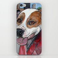 iPhone & iPod Skin featuring Pit Bull Joy Ride by WOOF Factory
