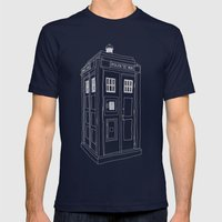 Doctor Who Tardis Mens Fitted Tee Navy SMALL