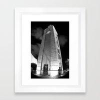 Where Are You? [Black & White] Framed Art Print