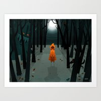 Woods Girl Art Print