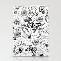 Butterflies And Bees Stationery Cards