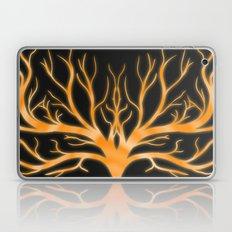 Ghostly Vines (Flaming Orange Ghost) Laptop & iPad Skin