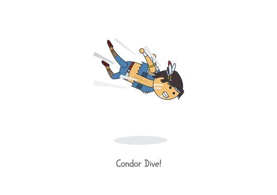 Condor Dive! Art Print