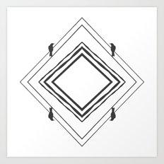 diamond crows II Art Print