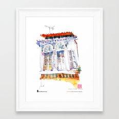 "Paul Wang, ""Shophouse At Purvis Street, Singapore"" Framed Art Print"