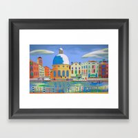 Ordinary Day In Venice Framed Art Print