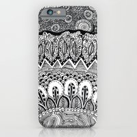 iPhone & iPod Case featuring Black and White Doodle by Kayla Gordon