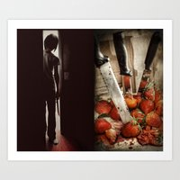 Strawberry Massacre Art Print