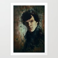 sherlock Art Prints featuring Sherlock by Sirenphotos