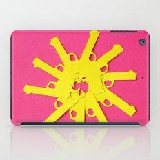Gun Flower on Pink iPad Case