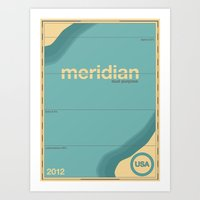 Meridian Single Hop Art Print