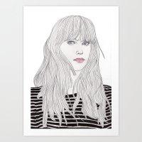 Pastel Girl 1 Art Print