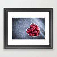Raspberries For A Health… Framed Art Print