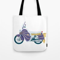 Batgirl's bike Tote Bag