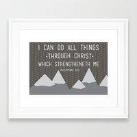I CAN // Philippians 4:13 Framed Art Print