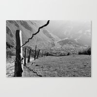 Valley of River Sno   (b/w) Canvas Print