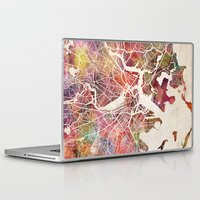 boston Laptop & iPad Skins featuring Boston by MapMapMaps.Watercolors