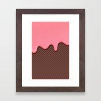Creamy Framed Art Print