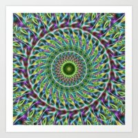 Psychedelic Abstract Pal… Art Print