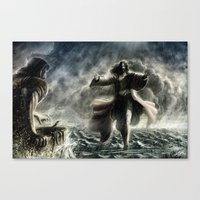 Walking Over The Water Canvas Print