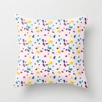 happy confetti Throw Pillow
