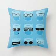 Throw Pillow featuring Glasses by Zach Terrell