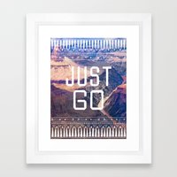 JUST GO Framed Art Print