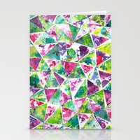 COLLAGE LOVE: Funky Triangles Stationery Cards