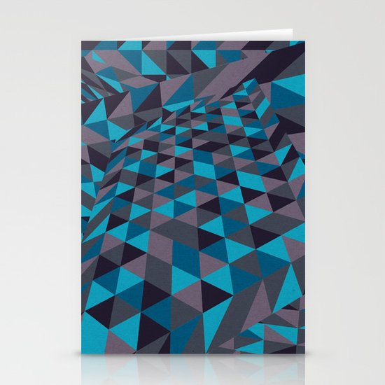 Triangulation (Inverted) Stationery Card