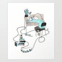 Work & Play Art Print