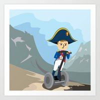Napoleon Segways the Alps Art Print