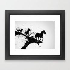Liquid horses Framed Art Print
