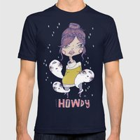 Howdy - From a girl with ghosts Mens Fitted Tee Navy SMALL