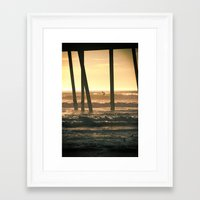 Framed Art Print featuring Surf's Up by Shawn King