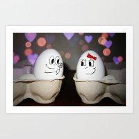 Egg Love Art Print