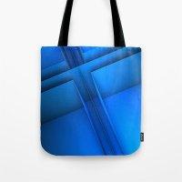 Clean Lines (Blue) Tote Bag