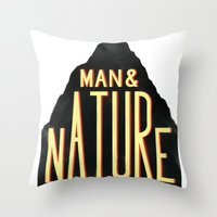Man & Nature Throw Pillow