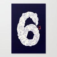 S6 Tee - Many Canvas Print
